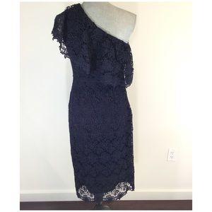 Nanette Lepore One Shoulder Lace Sheath Dress New Nwt